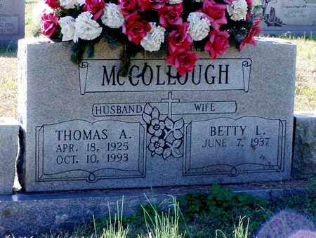 MCCOLLOUGH, THOMAS A. - Grainger County, Tennessee | THOMAS A. MCCOLLOUGH - Tennessee Gravestone Photos