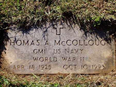 MCCOLLOUGH  (VETERAN WWII), THOMAS A - Grainger County, Tennessee | THOMAS A MCCOLLOUGH  (VETERAN WWII) - Tennessee Gravestone Photos