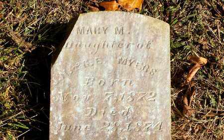 MYERS, MARY M. - Grainger County, Tennessee | MARY M. MYERS - Tennessee Gravestone Photos