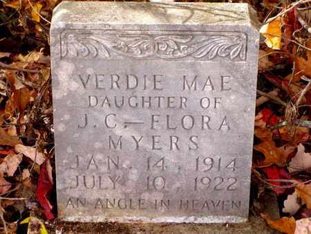 MYERS, VERDIE MAE - Grainger County, Tennessee | VERDIE MAE MYERS - Tennessee Gravestone Photos