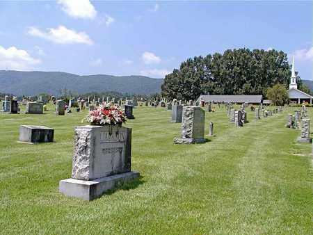*SUNRISE CEMETERY OVERVIEW,  - Grainger County, Tennessee |  *SUNRISE CEMETERY OVERVIEW - Tennessee Gravestone Photos