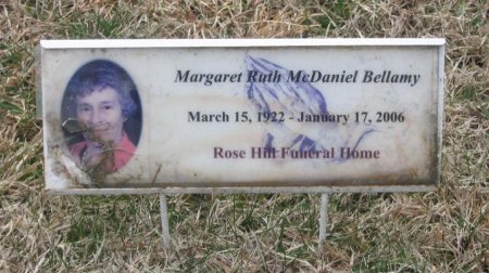 MCDANIEL BELLAMY, MARGARET RUTH - Greene County, Tennessee   MARGARET RUTH MCDANIEL BELLAMY - Tennessee Gravestone Photos