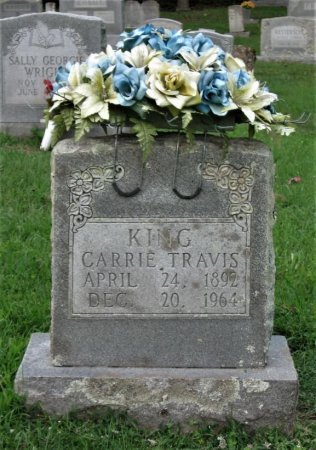 TRAVIS KING, CARRIE - Greene County, Tennessee | CARRIE TRAVIS KING - Tennessee Gravestone Photos