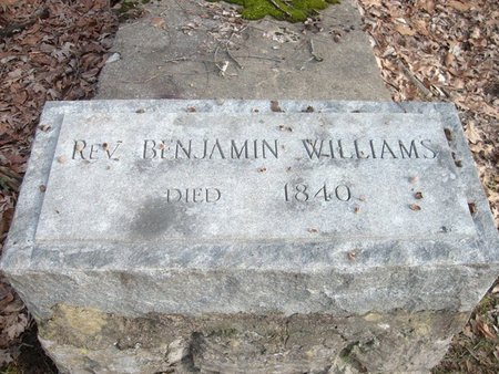 WILLIAMS, BENJAMIN, REV. - Greene County, Tennessee   BENJAMIN, REV. WILLIAMS - Tennessee Gravestone Photos
