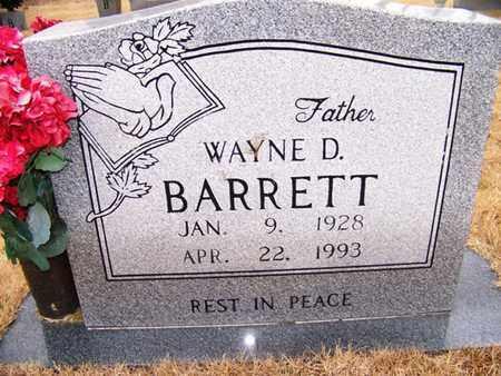 BARRETT, WAYNE D. - Grundy County, Tennessee   WAYNE D. BARRETT - Tennessee Gravestone Photos