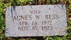 BESS, AGNES W. - Grundy County, Tennessee | AGNES W. BESS - Tennessee Gravestone Photos