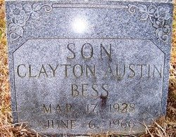 BESS, CLAYTON AUSTIN - Grundy County, Tennessee | CLAYTON AUSTIN BESS - Tennessee Gravestone Photos