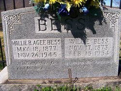 """BESS, WILLIAM WESLEY """"WILLIE"""" - Grundy County, Tennessee 