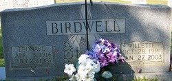 BIRDWELL, WILLETTE - Grundy County, Tennessee | WILLETTE BIRDWELL - Tennessee Gravestone Photos