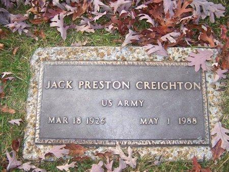 CREIGHTON (VETERAN), JACK PRESTON - Grundy County, Tennessee   JACK PRESTON CREIGHTON (VETERAN) - Tennessee Gravestone Photos