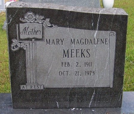 MEEKS, MARY MAGDALENE - Grundy County, Tennessee | MARY MAGDALENE MEEKS - Tennessee Gravestone Photos