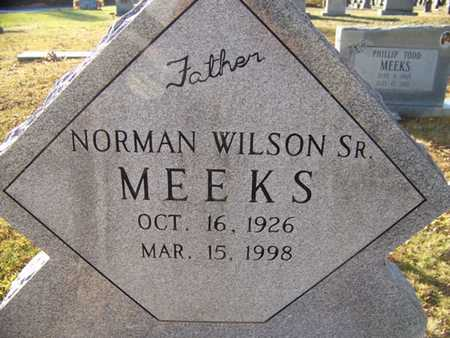 MEEKS, NORMAN WILSON (SR.) - Grundy County, Tennessee | NORMAN WILSON (SR.) MEEKS - Tennessee Gravestone Photos