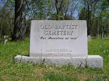 *OLD BAPTIST CEMETERY SIGN,  - Grundy County, Tennessee |  *OLD BAPTIST CEMETERY SIGN - Tennessee Gravestone Photos