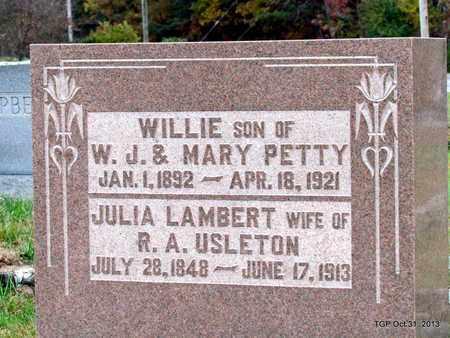 USLETON, JULIA - Grundy County, Tennessee | JULIA USLETON - Tennessee Gravestone Photos
