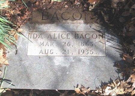 BACON, IDA ALICE - Hamblen County, Tennessee | IDA ALICE BACON - Tennessee Gravestone Photos