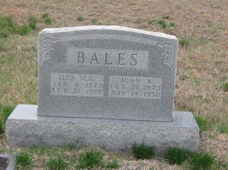 BALES, ELIZA - Hamblen County, Tennessee   ELIZA BALES - Tennessee Gravestone Photos