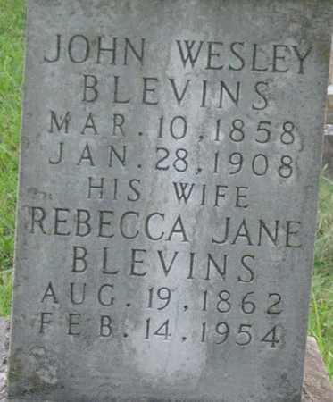 HASH BLEVINS, REBECCA JANE.CLOSEUP - Hamblen County, Tennessee | REBECCA JANE.CLOSEUP HASH BLEVINS - Tennessee Gravestone Photos