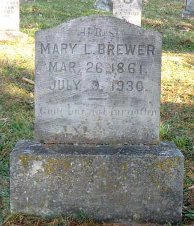 BREWER, MARY L. - Hamblen County, Tennessee | MARY L. BREWER - Tennessee Gravestone Photos