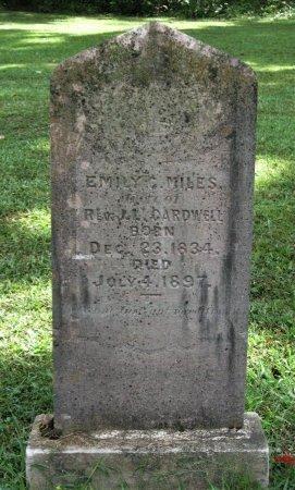 MILES CARDWELL, EMILY C. - Hamblen County, Tennessee | EMILY C. MILES CARDWELL - Tennessee Gravestone Photos