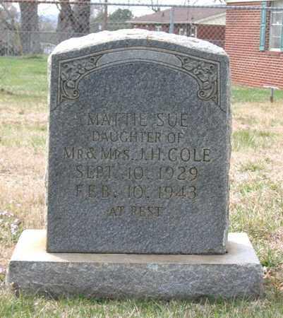 COLE, MATTIE SUE - Hamblen County, Tennessee | MATTIE SUE COLE - Tennessee Gravestone Photos