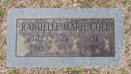 COLE, RANDELLE MARIE - Hamblen County, Tennessee | RANDELLE MARIE COLE - Tennessee Gravestone Photos