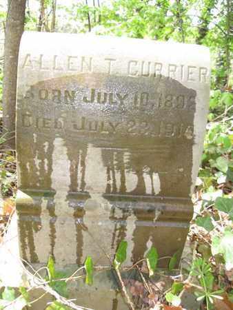 CURRIER, ALLEN T. - Hamblen County, Tennessee | ALLEN T. CURRIER - Tennessee Gravestone Photos