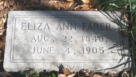FARER, ELIZA ANN - Hamblen County, Tennessee | ELIZA ANN FARER - Tennessee Gravestone Photos
