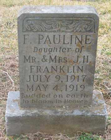 FRANKLIN, F. PAULINE - Hamblen County, Tennessee | F. PAULINE FRANKLIN - Tennessee Gravestone Photos