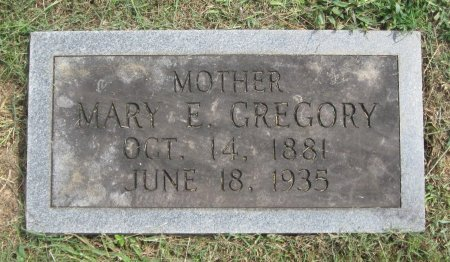 GREGORY, MARY ELIZABETH - Hamblen County, Tennessee | MARY ELIZABETH GREGORY - Tennessee Gravestone Photos