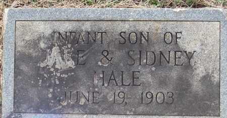 HALE, INFANT SON - Hamblen County, Tennessee | INFANT SON HALE - Tennessee Gravestone Photos