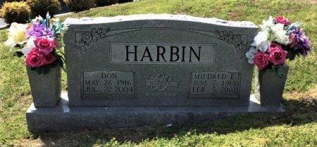 HARBIN, MILDRED E. - Hamblen County, Tennessee | MILDRED E. HARBIN - Tennessee Gravestone Photos