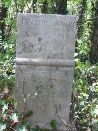 HOWERY, ELIZABETH E. - Hamblen County, Tennessee | ELIZABETH E. HOWERY - Tennessee Gravestone Photos