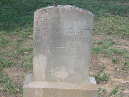 INMAN, GEORGE W. - Hamblen County, Tennessee | GEORGE W. INMAN - Tennessee Gravestone Photos