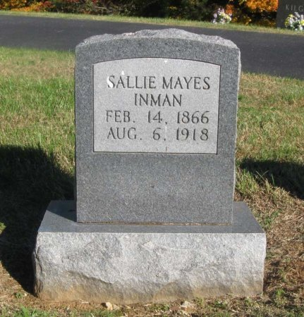 INMAN, SALLIE - Hamblen County, Tennessee | SALLIE INMAN - Tennessee Gravestone Photos