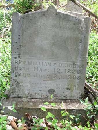 JOHNS, WILLIAM E.D. (REV.) - Hamblen County, Tennessee   WILLIAM E.D. (REV.) JOHNS - Tennessee Gravestone Photos