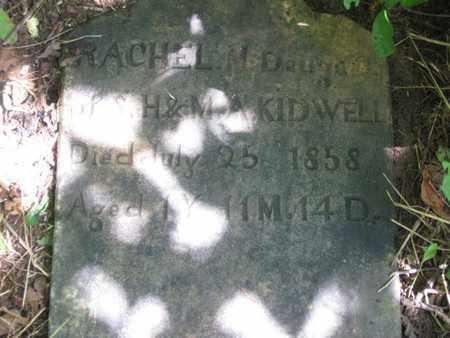 KIDWELL, RACHEL M. (CLOSE UP) - Hamblen County, Tennessee   RACHEL M. (CLOSE UP) KIDWELL - Tennessee Gravestone Photos