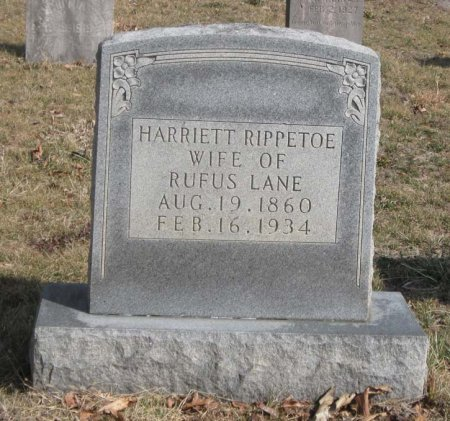 RIPPETOE LANE, HARRIETT - Hamblen County, Tennessee | HARRIETT RIPPETOE LANE - Tennessee Gravestone Photos