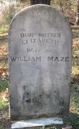 MAZE, ELIZABETH - Hamblen County, Tennessee   ELIZABETH MAZE - Tennessee Gravestone Photos