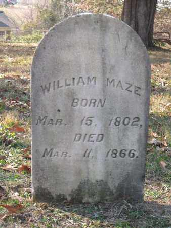 MAZE, WILLIAM - Hamblen County, Tennessee | WILLIAM MAZE - Tennessee Gravestone Photos