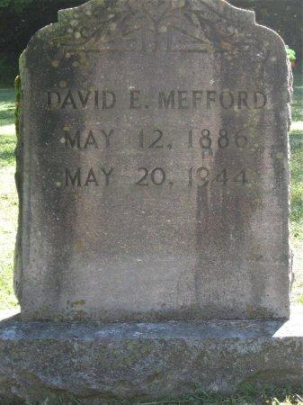 MEFFORD, DAVID E. - Hamblen County, Tennessee | DAVID E. MEFFORD - Tennessee Gravestone Photos