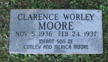 MOORE, CLARENCE WORLEY - Hamblen County, Tennessee | CLARENCE WORLEY MOORE - Tennessee Gravestone Photos