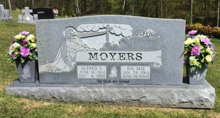 MOYERS, ALFRED S. - Hamblen County, Tennessee | ALFRED S. MOYERS - Tennessee Gravestone Photos