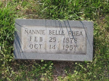 RHEA, NANNIE BELLE - Hamblen County, Tennessee   NANNIE BELLE RHEA - Tennessee Gravestone Photos
