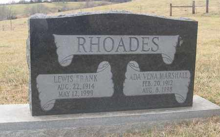 MARSHALL RHOADES, ADA VENA - Hamblen County, Tennessee | ADA VENA MARSHALL RHOADES - Tennessee Gravestone Photos