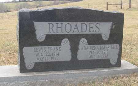 RHOADES, LEWIS FRANK - Hamblen County, Tennessee | LEWIS FRANK RHOADES - Tennessee Gravestone Photos