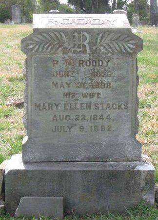 STACKS RODDY, MARY ELLEN - Hamblen County, Tennessee | MARY ELLEN STACKS RODDY - Tennessee Gravestone Photos