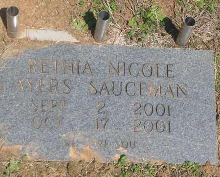 SAUCEMAN, RETHIA NICOLE - Hamblen County, Tennessee | RETHIA NICOLE SAUCEMAN - Tennessee Gravestone Photos