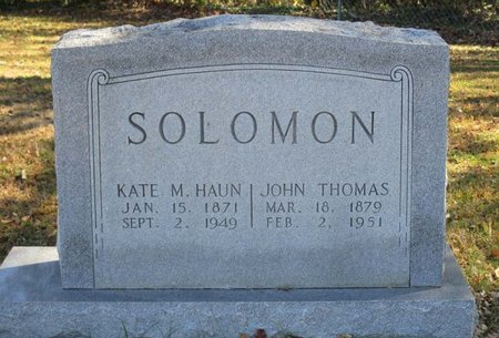 SOLOMON, KATE M. - Hamblen County, Tennessee | KATE M. SOLOMON - Tennessee Gravestone Photos