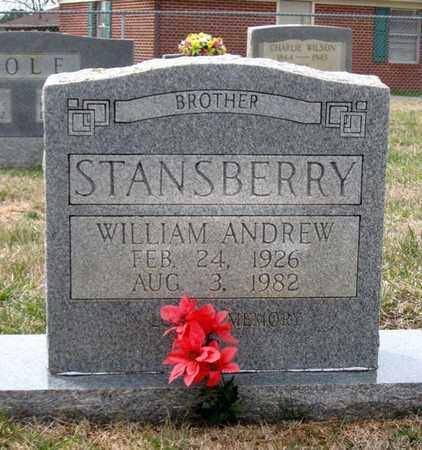 STANSBERRY, WILLIAM ANDREW - Hamblen County, Tennessee | WILLIAM ANDREW STANSBERRY - Tennessee Gravestone Photos
