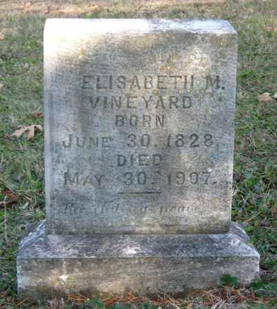 VINEYARD, ELISABETH M. - Hamblen County, Tennessee | ELISABETH M. VINEYARD - Tennessee Gravestone Photos